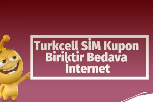 Turkcell Sim Kupon Kampanyası ile Bedava internet Kazanmak