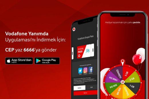 Vodafone Yanımda Uygulaması ile Bedava internet