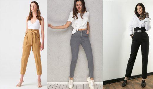 Yüksel Bel Pantolon Modelleri
