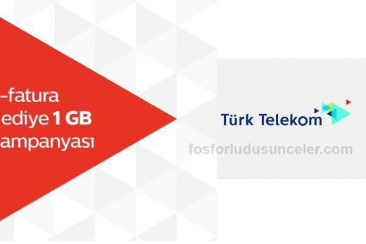 türk telekom bedava intenret