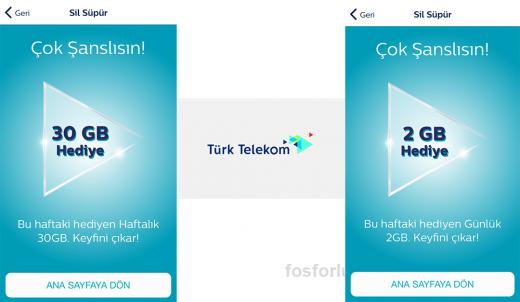 Türk Telekom Sil Süpür ile Hediye İnternet Kazanmak