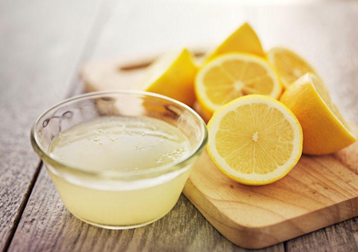 limon ile yüz temizliği